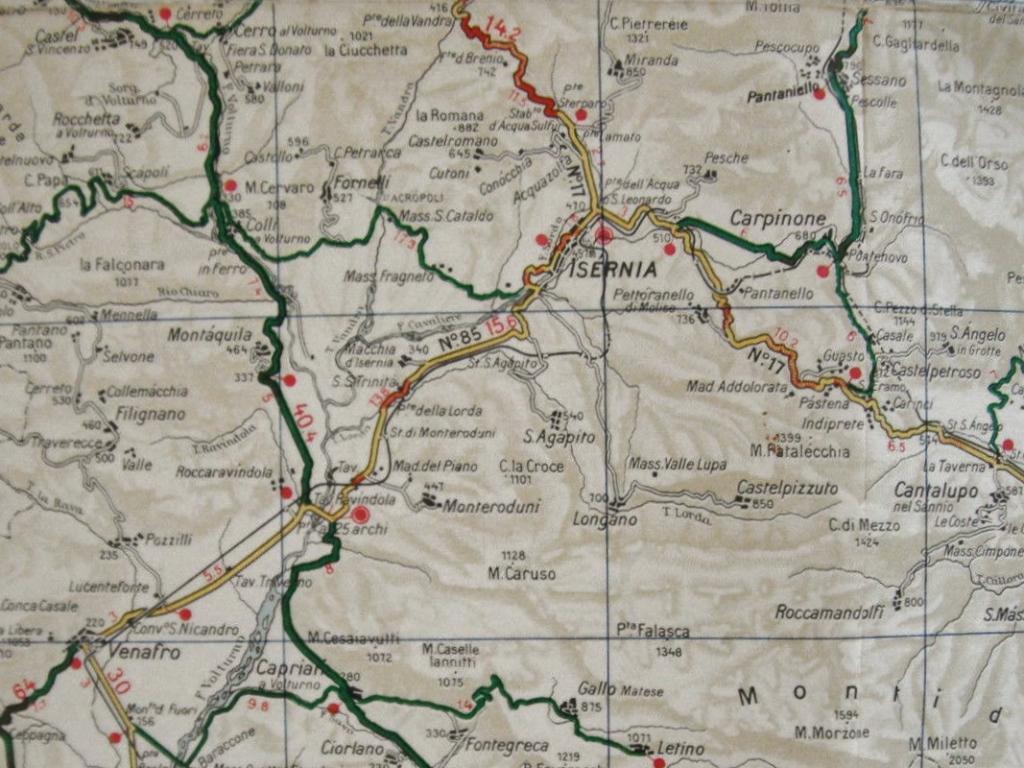 Isernia Italy Map.Inniskillings Share Pows With Americans Royal Irish Virtual