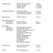 Music programme for Beating Retreat