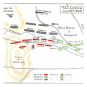 Map Talavera 28 July second day