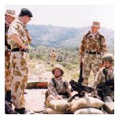 Colonel-in-Chief visits the Machine Gun Platoon.
