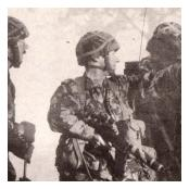 B Company Commander 4 (V) R IRISH on Ex PLAIN SAILING, BAOR 1989.