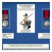 Waterloo & Peninsula medals awarded to Pte SB Martin