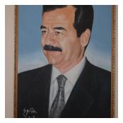 regime portrait Saddam Hussein seized 1 R IRISH