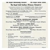Programme North Irish Brigade Tout USA 1964.