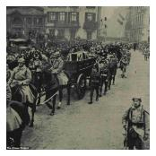 The Unknown Warrior is Escorted through Boulogne by the French 8eme Régiment