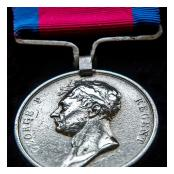 Detail of Private Peter McMullen's Waterloo medal
