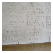 Lieutenant Geoffrey Cather VC's name inscribed on the Thiepval Memorial.