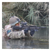 A Ranger of C Company crosses a canal.