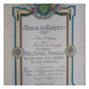 Irish Active Service Certificate