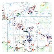 #21. The Platoon Commander's Map Sarawak 1 RUR Borneo