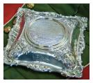 Silver base to Captain Robe's gold and diamond encrusted snuff box