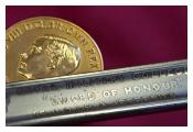 Detail of Sword of Honour and the gold Sovereign's Medal, 1936