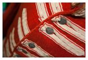 Detail of 1805 British tunic worn during the Peninsular War