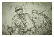 Illustration depicting Second World War German prisoners of war