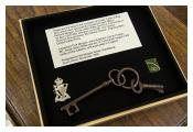 Keys to courtyard of Colditz Castle