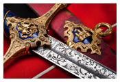 Detail of Captain Thomas Charlton Smith's sword