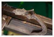 Detail of matchlock rifle
