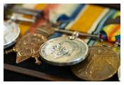 Campaign medals from the First World War Pip Squeak Wilfred