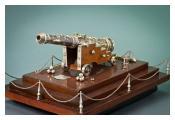 Silver model of a Maltese Cannon