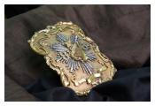Ornate silver and silver gilt cross belt plate circa 1850