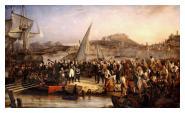 Napoleon leaves quits Elba exile
