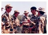 Colonel-in-Chief visits Assault Pioneer Platoon, 4/5 RANGERS in Cyprus.