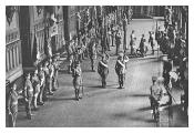 HM King George V receives the Colours of the disbanded Irish regiments in St Geo