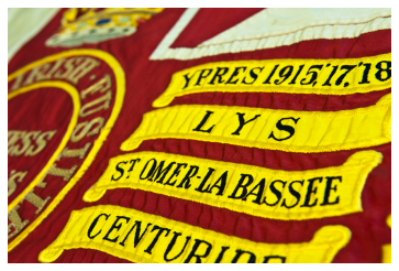 Detail Battle Honours Queen's Colour Royal Irish Fusiliers