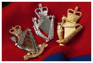 A trio of cap badges