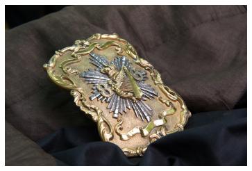 Ornate silver and silver gilt cross belt plate circa 1850
