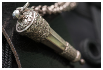 Detail of whistle from Napoleonic cross belt