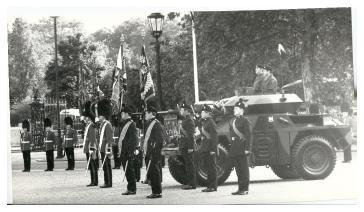 Irish Regiments Beat Retreat on Horse Guards Parade.