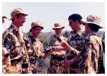 Colonel-in-Chief visits Assault Pioneer Platoon, 4/5 RANGERS in Cyprus.