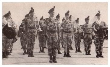 Regimental Band 1 R IRISH on Op GRANBY 1991