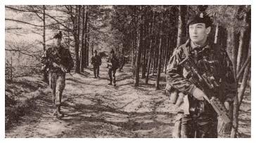 1 R IRISH Inner German Border Patrol 1989.