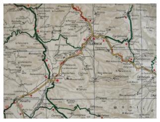 Map Isernia Italy