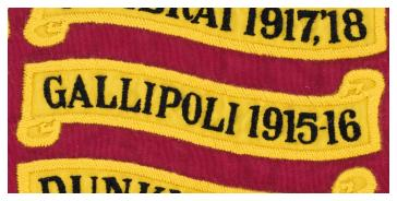 Battle Honour GALLIPOLI 1915-16