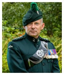 Major General Colin Weir DSO MBE Colonel Royal Irish Regiment