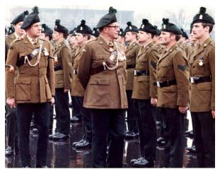 Bala Bredin Colonel of Regiment Royal Irish Rangers