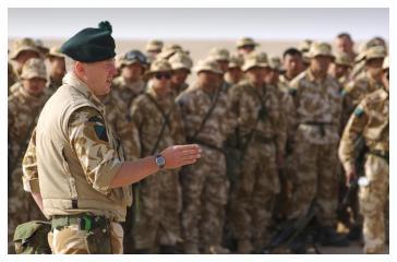 Lieutenant Colonel Tim Collins delivers his eve-of-battle speech.