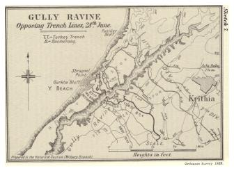 Gully Ravine where Capt O'Sullivan and Sgt Somers won the Victoria Cross