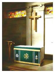 The Altar in the Regimental Chapel