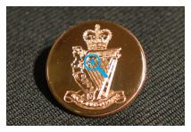 Uniform Blazer Button - Royal Irish Rangers