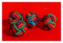 Cuff Links - Royal Irish Regiment - Silk Knots