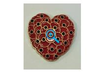 Lapel Badge - Poppy Hearts