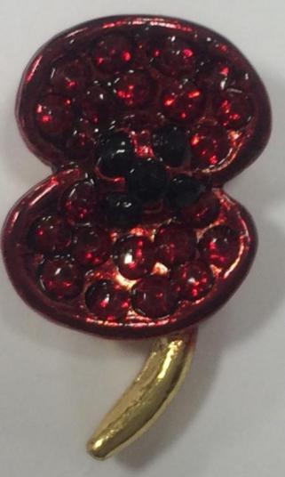 Lapel Badge - Poppy Collection Crystal Lapel Pin | Royal Irish