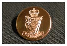 Uniform Cuff Button - Royal Irish Rangers