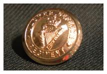 Uniform Cuff Button - Ulster Defence Regiment