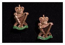 Cuff Links - Royal Ulster Rifles - Enamel