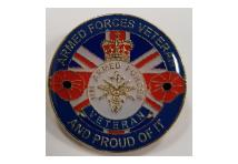 Lapel Badge -  Armed forces veteran and proud of it.